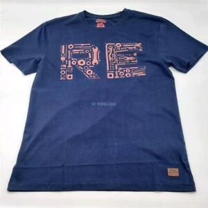 T-Shirt Ärmellos Kurz Original ROYAL ENFIELD Tools Blau/Rot (L)