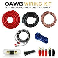 0 Gauge AWG Complete Amplifier Amp Installation Kit Wiring 4 Ga 3500W