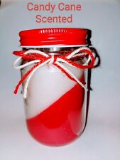 12 oz Strawberry Candy Cane  scented candle Highly scented Christmas Gift