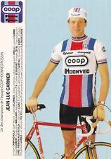 CYCLISME carte cycliste JEAN-LUC GARNIER équipe COOP HONVED ROSSIN 1984