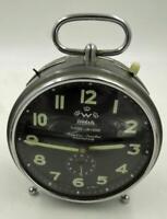 1960S STUNNING WEHRLE LARGE ALARM CLOCK  ALARM REPEAT STRIKE GLOW HANDS  WORKS
