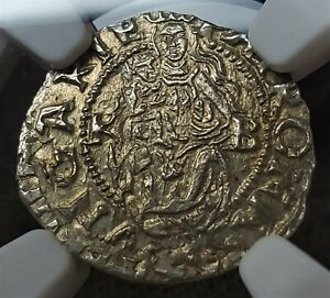 1 Denar 1555KB I Ferdinánd Curved Shield Hungary MS65 /  NGC Ultra Rare Grade!!!