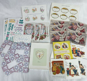 Mixed Lot Vintage Current Greeting Cards & Envelopes Postcards Blank Thank You
