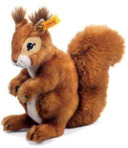 Steiff 'Niki' Squirrel - classic plush washable soft toy - 21cm - 045141
