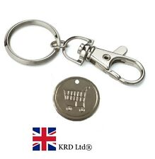 Shopping Trolley Token Coin Reusable One Pound Steel Key Ring Locker Tokens