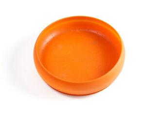 Paww ThrowBowl, Large, Orange - Dog Puppy Toy Treat Water Dish NWT