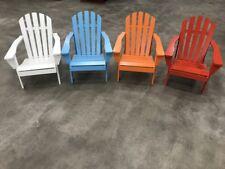 Adirondack Chair (Painted wood) - (Blue,Orange,Red,White) Amerihome