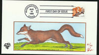 RED FOX #3036  Pugh Hand Painted Cachet First Day Cover 1998 LOT 1102