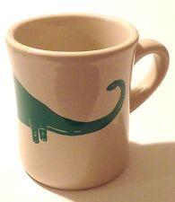 Rare & Vintage! Green Dinosaur Brontosaurus Brachiosaurus Mug! Free Shipping!