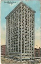 Old PC Chicago 1914 - tram - oldtimers - Republic Building