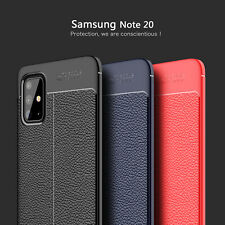 For Samsung Galaxy Note 20 Ultra / Note 20 Luxury Rubber Soft Leather Case Cover