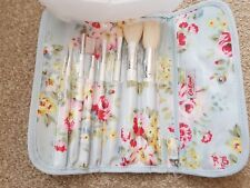 Cath Kidston Make Up Brush Set in Roll Up Floral Case