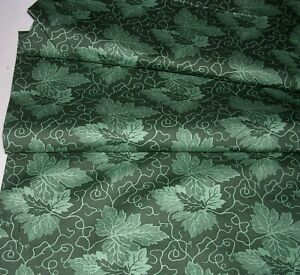 833J Elly Sienkiewicz Baltimore Beauties COTTON QUILT Fabric P&B GREEN LEAF 1+YD