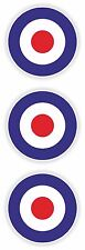Royal Air force Roundels 3x Stickers for Bumper Motorcycle Helmet Gas Tank Truck