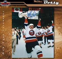MIKE BOSSY Signed New York Islanders 8x10 Photo with Cup - 70360