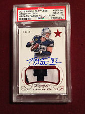 Jason Witten 2015 Flawless Greats Ruby Game Used Patch Auto 9/15 PSA 10 POP 1 !