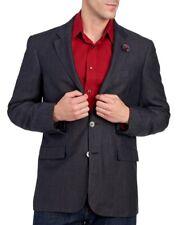 Robert Graham Mens Black Wool Blazer Sports Coat Jacket NWT $498 Size 40 R