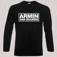 ARMIN VAN BUUREN - Intense Logo Men's Long Sleeve Black T-Shirt Size S to 3XL