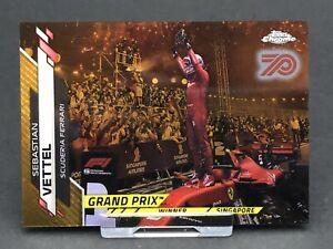 Topps Chrome F1 Sebastian Vettel Ferrari Card Formula 1 One #147 Gold 70th