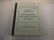 NAVSHIPS VOLUME 1 TECHNICAL MANUAL DIGITAL READOUT ELECTRONIC COUNTER AN/USM-207