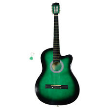 Us 38 Inch Right Handed Beginner Practice Acoustic Guitar Cutaway 6 String Green