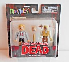The Walking Dead MiniMates Figures Amy & Stabbed Zombie Diamond Select MOC