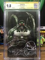 Venom 30 Cgc 9.8 virgin variant Signed and sketch by Tyler Kirkham Scorpion