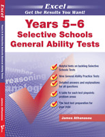 EXCEL-SELECTIVE SCHOOLS GENERAL ABILITY TESTS YEARS 5-6 9781740200158 Free post