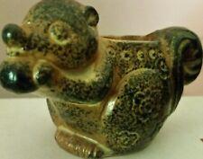 Ceramic Squirrel with Nut Figurine Vintage