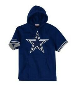 Dallas Cowboys Short Sleeve Terry Hoodie Mitchell & Ness 3XLT