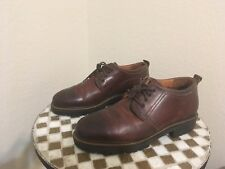 VINTAGE ITALY BROWN DISTRESSED JOHNSTON & MURPHY LACE UP BOOTS 12 M
