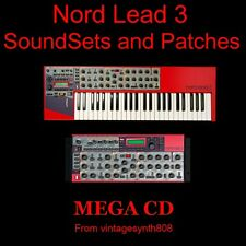 Clavia Nord Lead 3 and rack Synthesizer SoundSets and Patches COLLECTION on CD