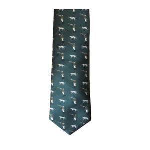 Shooter & Dog 100% Silk Tie in Green