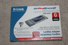 D-link AirPlus Xtreme G DWL-G650 802.11g/b Wireless Adapter - Brand New PCMCIA