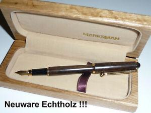 original MARKSMAN Füllhalter aus Echtholz mit Holz-Etui - unbenutzte Neuware OVP