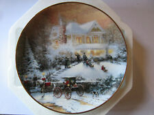 """1993 All Friends Are Welcome"""" An Old Fashioned Christmas with Thomas Kinkade New"""