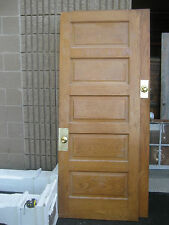 """circa 1900 SOLID oak PANELED door CHICAGO brownstone 83.25"""" x 32"""" x 1 3/8"""""""
