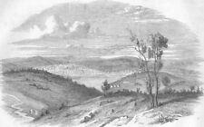MOLDOVA. Jassy, the capital of Moldova, antique print, 1853