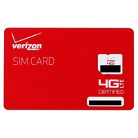 Verizon Wireless 4G LTE Micro SIM Card (BULKSIM-NFC-D)