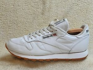 Reebok Classic mens Comfort trainers Leather White UK 11 EUR 45.5 US 12