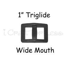 """10 Slide Adjusters / Tri Glides / Tri Bars for Adjustable Straps - 1"""" Wide Mouth"""