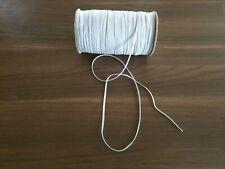 5m x 3mm Gummiband kochfest leichter Zug Gummilitze weiß Maske