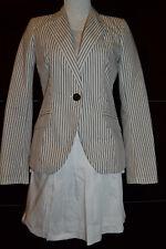 ZARA Damen-Anzüge & Kombinationen 2 in 1 Blazer Jacket & Rock M Weiß gestreift