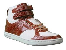 Creative Recreation Premium Dicoco Off White Canvas Brown Croc Shoes 9.5 US NIB
