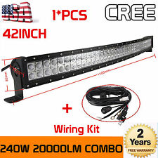 "42"" inch 240W CREE CURVED LED WORK LIGHT BAR FLOOD SPOT COMBO OFFROAD SUV TRUCK"