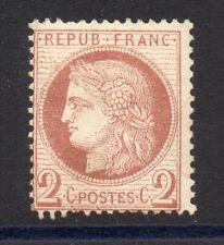 France: 1872 Céres 2c rouge brun n° 51 neuf * côte 200 euros