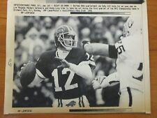 Vintage AP Wire Press Photo 1991 NFL Buffalo Bills Quarterback Jim Kelly