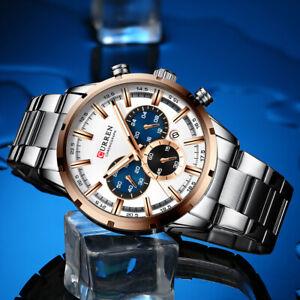 Luxury Mens Watches Waterproof Army Calendar Date Analogue Quartz Wrist Watch UK