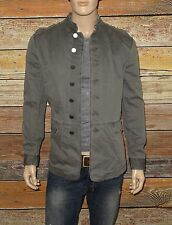 John Varvatos Star USA Officer Jacket in Pearl Grey Size Large Linen/Cotton