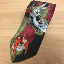Looney Tunes Novelty Neck Tie - 1993 - Burton Retail - Bugs Bunny Yosemite Sam